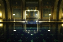 The Hearst Castle Indoor Roman Pool at Night