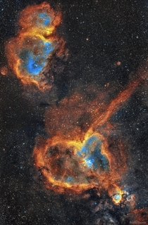 The Heart and Soul Nebulas Image Credit amp Copyright Mario Zauner