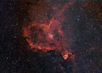 The Heart Nebula IC  Located in the Perseus Arm of the Galaxy in the constellation Cassiopeia  light years away from Earth