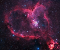 The Heart Nebula -  light years away from Earth