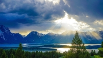 The heavens opening in Grand Teton National Park