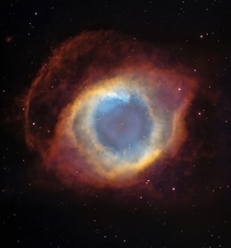 The Helix Nebula from Blanco and Hubble