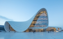 The Heydar Aliyev Center by Zaha Hadid in Baku Azerbaijan