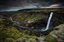 The hidden treasure - the Hifoss waterfall near the volcano Hekla in the south of Iceland  photo by D-P Photography