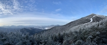 The High Adirondacks from whiteface mountain in Lake Placid New York
