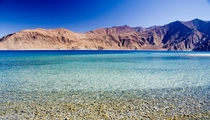 The high altitude lake of Pangong Tso India ft above MSL