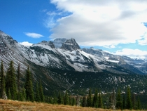 The high country of Glacier National Park after an October snowstorm