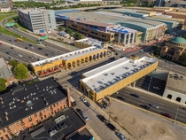 The High Street cap in Columbus OH a cost-efficient way to mitigate the damage caused to American neighborhoods by freeway construction of the s Holds  lanes of traffic as well as two commercial buildings The surrounding areas seen significant development