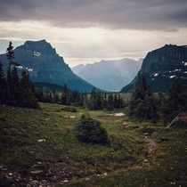 The hike back to Logan Pass at Glacier National Park This heavenly light stopped me in my tracks