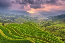 The hills of Longsheng County China  photo by Helminadia Ranford