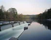 The Holston Weird Dam on a clear morning