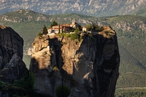 The Holy Trinity Monastery in Meteora Greece