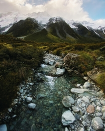The Hooker Valley One of the easiest and wildest walking tracks in New Zealand which leads you to the feet of AorakiMount Cook x