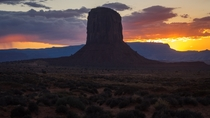 The horizon on fire after sunset in Monument Valley - Monument Valley Navajo Tribal Park USA