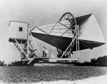 The Horn reflector antenna at Bell Telephone Laboratories in Holmdel New Jersey was built in  for pioneering work in communication satellites for the NASA ECHO I