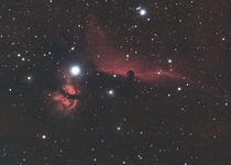 The Horsehead and Flame Nebulae from my backyard