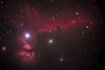 The Horsehead Nebula IC  and the Flame Nebula NGC