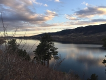 The Horsetooth reservoir in Fort Collins CO