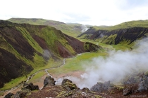 The Hot River of Reykjadalur Steam Valley Hverageri Iceland