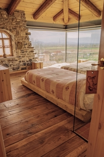 The hourse room with overlooking in Zadrima Albania Photo