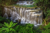 The Huai Mae Khamin Waterfall Thailand  by KitchaKron Sonnoy