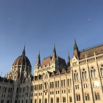 The Hungarian Parliament built  by  people using  million bricks half a million precious stones and kg of gold