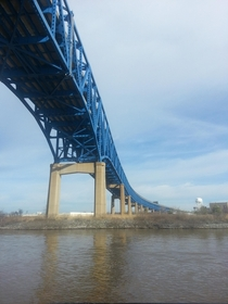 The I- Bridge over the Schuyllkill River showing off her new paint job Philadelphia PA oc