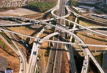 The I-I- interchange nicknamed Spaghetti Junction- DeKalb County Georgia