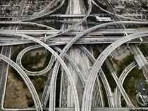 The I- interchange in Los Angeles