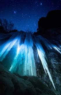 The ice caves of Rifle Mountain Park Colorado
