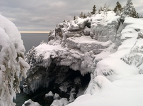 The Ice-Covered Grotto Bruce Peninsula National Park Ontario CA