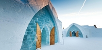 The Ice Hotel Htel de Glace near Quebec City Canada is the first and only true ice hotel in North America
