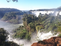 The Iguaz Falls ArgentinaBrazil look like something out of Jurassic Park