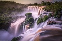 The Iguazu Falls one of the largest waterfalls in the world ArgentinaBrazil  photo by Wave Faber