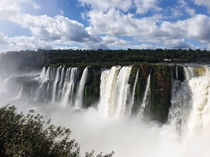 The Iguazu waterfalls in Argentina af the border to Brazil