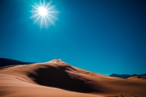 The imposing dunes of the Coral Pink Sand Dunes state park Utah  photo by Kim Green