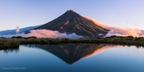 The imposing Mt Taranaki New Zealand  photo by Davis Drazdovskis
