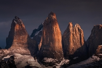 The Impressive Towers of Torres Del Paine Patagonia Chile x