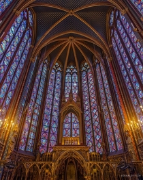 The incredible stained-glass interior of Sainte-Chapelle Paris
