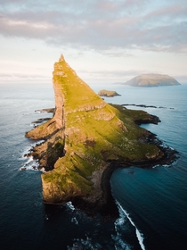 The incredible Tindholmur Faroe Islands just off the coast of Vagar