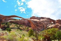 The incredibly thin Landscape Arch Arches National Park oc