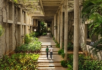 The Indian Institute of Management Bengaluru INDIA campus was designed by Pritzker prize winner architect BV Doshi and completed in