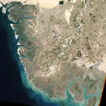 The Indus River Pakistan as viewed from space Photo by NASA