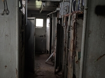 the inside of abandoned train car I explored last month