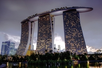 The integrated resort of Marina Bay Sands