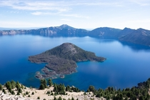 The intense blue of Crater Lake Oregon