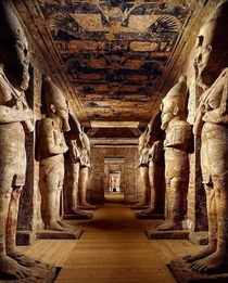The interior of Abu Simbel Temple Nubia EGYPT
