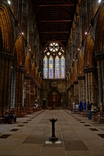 The interior of Glasgow Cathedral