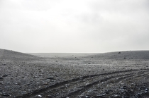 The Interior of Iceland looking like a desolate planet A color picture