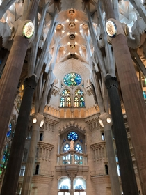The Interior of La Sagrada Famlia by Antoni Gaud